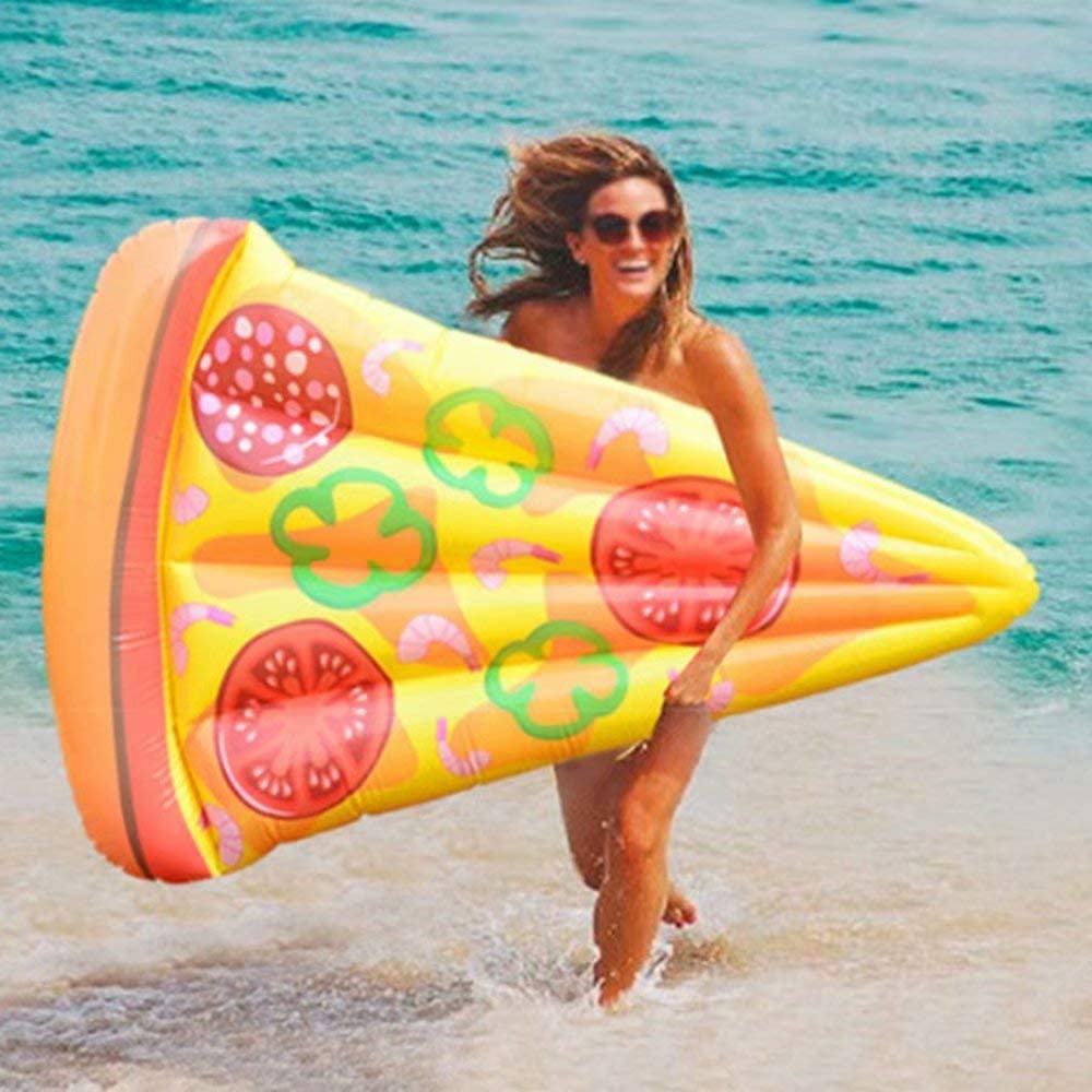 GIANT WATERMELON POOL FLOAT LOUNGE INFLATABLE PARTY EASY DEFLATE SUMMER FUN 6 FT