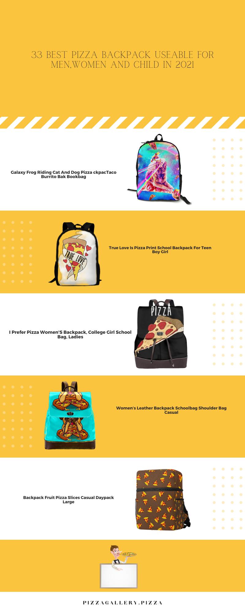 33 Best Pizza Backpack Useable For Men,Women And Child In 2021